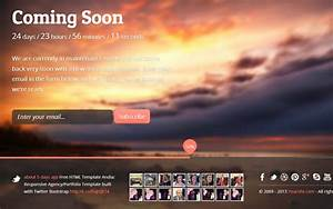 Cortes Coming Soon Template Landing Pages Wrapbootstrap