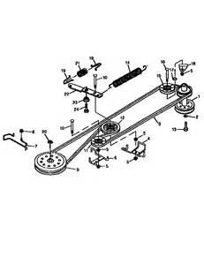 diagram for replacing lawn mower belt on sears craftsman