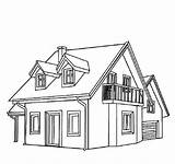 Coloring Town Houses Common Netart sketch template
