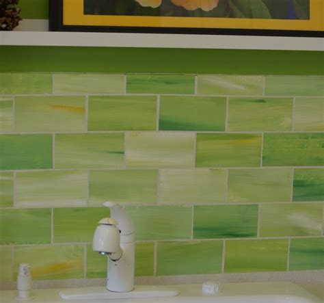 lime green glass tile backsplash coolest lime green