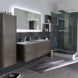 colonne salle de bain pensez a exploiter l39espace With meuble miroir salle de bain castorama