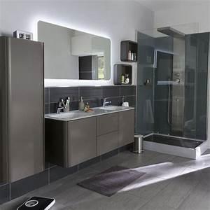 colonne salle de bain pensez a exploiter l39espace With salle de bain design avec meuble de sdb castorama