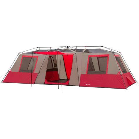 ozark trail canopy ozark trail 15 person 3 room split plan instant cabin tent