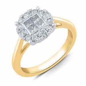 halo diamond engagement ring kmartcom With kmart wedding rings