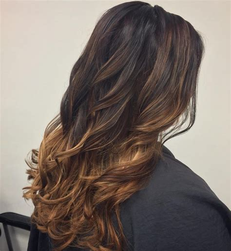 dark brown hair with light brown ombre dark and light brown hair ideas with highlights best