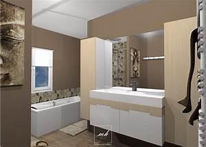Aménager Une Salle De Bain : d coration de salle de bains mh deco ~ Dailycaller-alerts.com Idées de Décoration