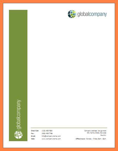 microsoft office letterhead template company letterhead
