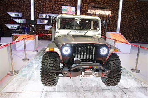 mahindra jeep 2016 mahindra thar custom front at auto expo 2016 indian