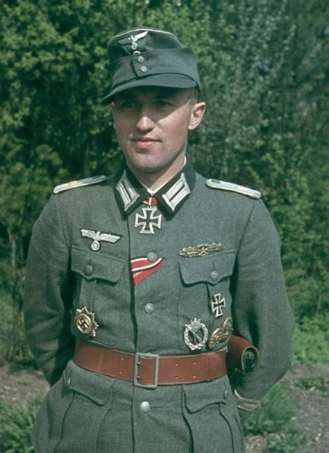 Most Decorated German Soldier by Ww2 German Soldier Color Portrait Wwi Wwii Korea