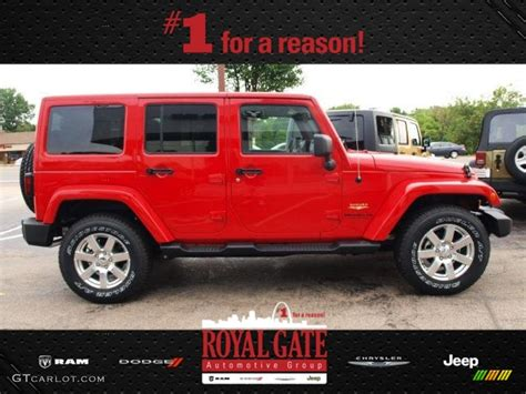 jeep sahara red 2013 flame red jeep wrangler unlimited sahara 4x4