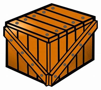 Crate Clipart Kiste Wooden Transparent Clip Coloured