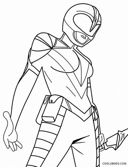 Coloring Power Ranger Pages Rangers Printable