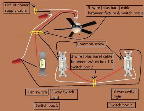Fan Light Wiring Diagram by Power Fixture Light 3 Way Fan 1 Fan Light Switched