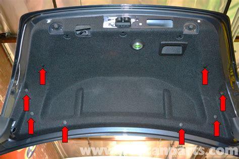 mercedes benz  trunk interior panel  trim removal