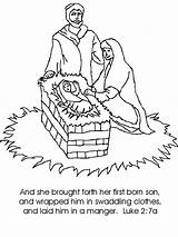 Jesus Birth Coloring Drawing Pages Luke Story Sheet Verse Chapter Pdf Childrenschapel Sketches Template sketch template