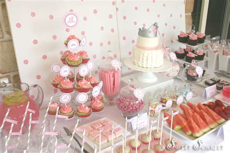 sweet scarlet   party dessert table
