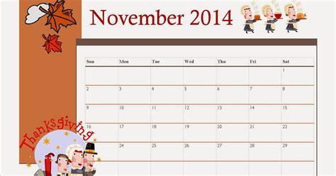 printable november  calendar  kids