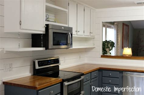 kitchen cabinets microwave shelf open kitchen shelving domestic imperfection 6225
