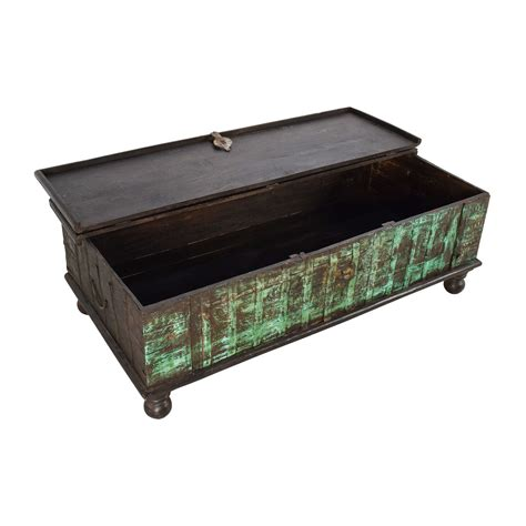 Buy Coffee Tables With Storage by 62 Nadeau Nadeau Distressed Coffee Table With