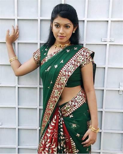 Saree Tamil Actress Navel Prathista Prathishta Tollywood