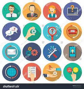 Technical Support Customer Assistance Icons Flat Stock ...