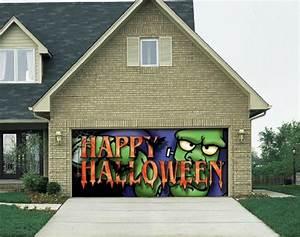 big frank outdoor halloween holiday garage door decor 7x16 With 7x16 garage door