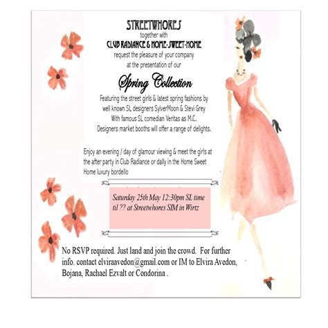 fashion invitation card template carnival fascination itinerary schedule location 2013 2014