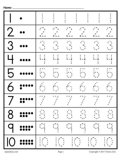 free tracing worksheets numbers 1 20 pre k worksheets kindergarten worksheets number