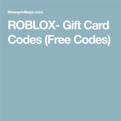 roblox gift card codes  codes  rubox