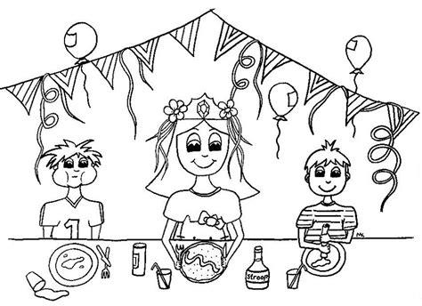 Kleurplaat Feest Verjaardag by Kleuren Nu Verjaardag Meisje Kleurplaten