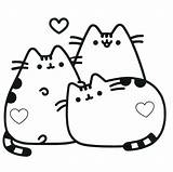 Pusheen Coloring Cat sketch template
