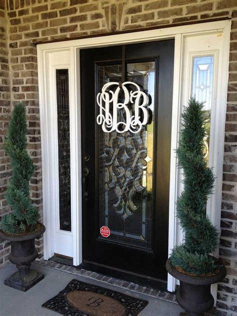 painted wooden monogram monogram wreath wedding  lettermania  wreaths pinterest