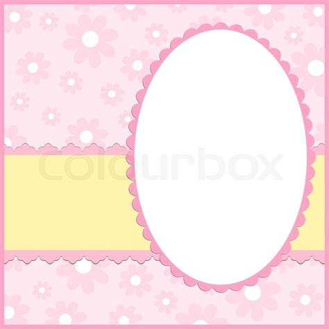 blank template   card  photo frame  pink