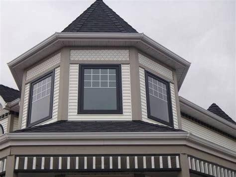 vinyl windows black exterior window frame black capping