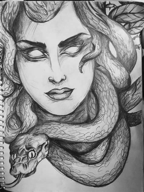 Medussssssssssssssa | Sketch painting, Art drawings