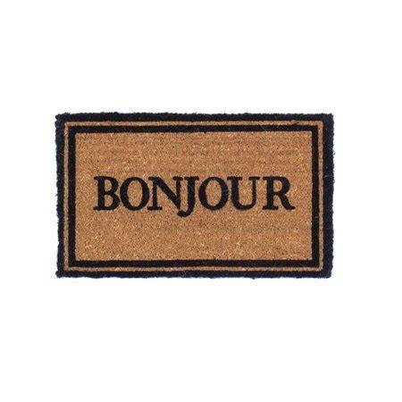 Bonjour Doormat by Coco Mats N More Bonjour Doormat Walmart