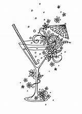 Coloring Pages Adult Cocktail Colouring Sheets Advocate Cocktails Claire Adults Halloween Books Linework York Library Line Drawing Drawings Mcelfatrick Agency sketch template