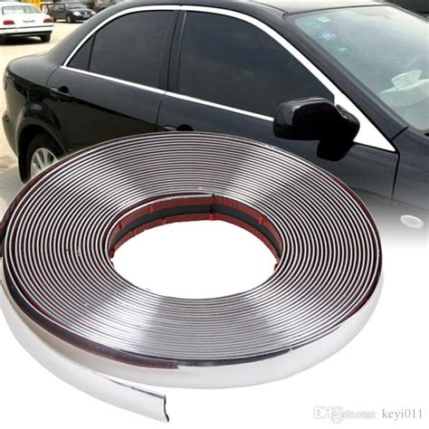 2019 15m 6mm Car Auto Chrome Diy Moulding Trim Strip For
