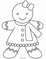 Gingerbread Coloring Pages Printable Cool2bkids sketch template