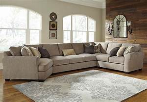 4 piece sectional with left cuddler armless sofa by With davis 4 piece sectional sofa
