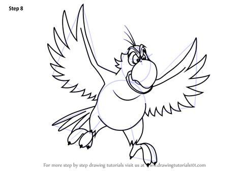 learn   draw iago  aladdin aladdin step  step