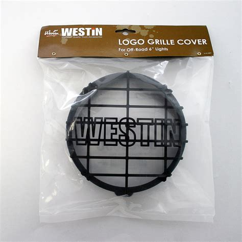 off road light covers westin 09 0505c off road light cover black grid only
