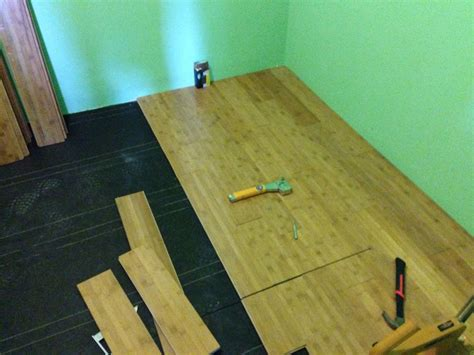 how to lay a bamboo floor how to install bamboo hardwood flooring part 3 of pantry remodel handy father