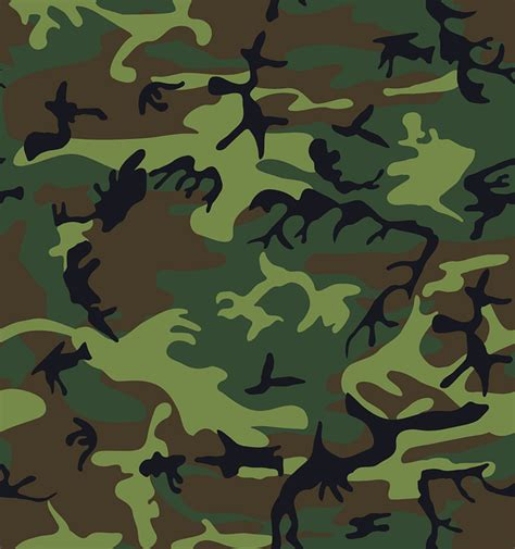 camouflage green brown  vector graphic  pixabay