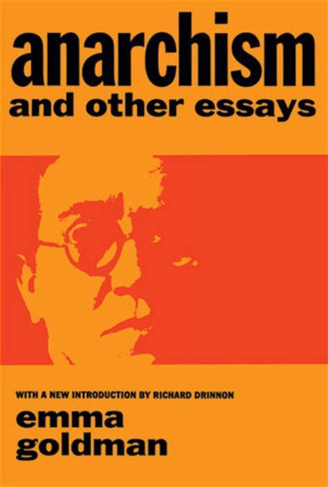 anarchism   essays  emma goldman reviews