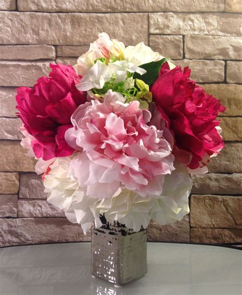 1000 ideas about peonies and hydrangeas on tulip bouquet white bouquets and