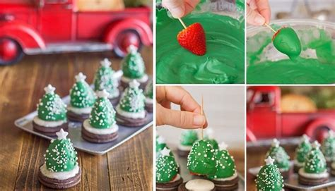 Kitchen Christmas Ideas - chocolate covered strawberry christmas trees archives find fun art projects to do at home and