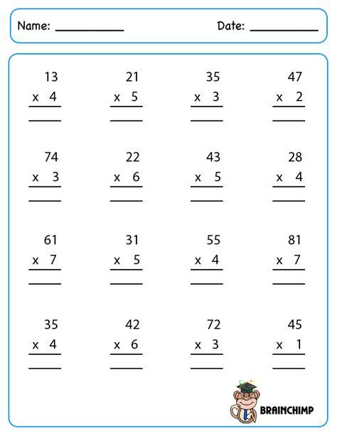 2 Digit By 1 Digit Multiplication Worksheets Resultinfos