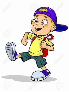 boy walking to store clipart - Clipground