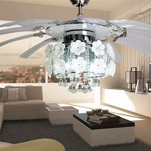 Ceiling outstanding small fan with light and